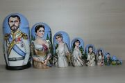 New Exclusive 10 In 1 Nesting Dolls Russian Russia Matryoshka - Royal Family