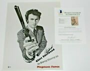 Clint Eastwood Signed Dirty Harry 16x20 Photo Beckett Coa Magnum Force Movie