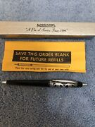 Vintage Morrison Retractable Pen With Sterling Filigree And Box