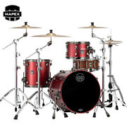 Mapex Saturn Evo Hybrid Straight Ahead 3pc Shell Pack Tuscan Red Lacquer
