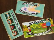 Lot Of 50 Sets Social Distancing Posters Wholesale For Schools Retail Free Ship