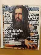 1999 February 4 Rolling Stone Magazine Rob Zombie 10 Best Metal Bands D65