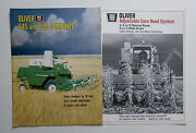 2 Different 1967 Oliver 545 535 Combine And 2 3 4 6 Row Corn Head Brochures