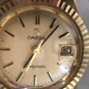 Vintage Omega Ladymatic 17 Jewels Solid 14k Yellow Gold 14k Solid Gold Band