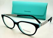 New And Co. Reading Glasses Tf 2203-b 8005 52-16 Black Blue Frames Readers