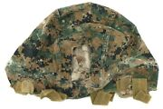 Us Marine Corp Reversible Ech Ach Marpat Helmet Cover - Used With Repairs Large
