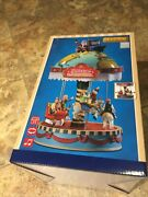 Lemax Yuletide Carousel -holiday Village-train-carnival Sights And Sounds