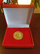 Extremely Rare Walt Disney Scrooge Mcduck French Magazine 1 Sou Coin In Box