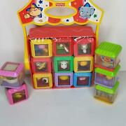 Fisher Price Peek-a-blocks Circus Complete Set With Big Top Tent Carrier 14 Cube