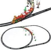 Christmas Electric Train And Track Set Toys Puzzle Model Kids Xmas Tree Decor Gift