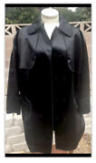 Dolce And Gabbana Womens Button Down Trench Coat Black Size 42