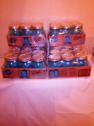 Vintage American Heritage Blue And Green Color Ball Mason Jars -- Quart And Pi