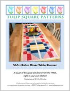 Retro Diner Table Runner - Quilted Sewing Pattern By Tulip Square Studio