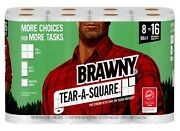 Brawny Paper Towels, Tear-a-square, 8 Double Rolls