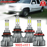 Fit For Lincoln Ls 2003-2006 4-side Led Headlight Hi Low Beam Bulbs Super White