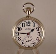 Illinois 161 Bunn Special Type Ii 21j 60hr Salesman Display 16srr Pocket Watch