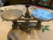 Vintage W.m. Welch Scientific Double Balance Scale Measures In Ounce And .01oz