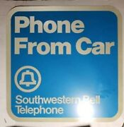 Vintage Southwestern Bell Phone Booth Sign 24x24 Metal, Payphone, Public Phone