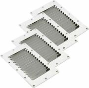 4 Pcs Stainless Steel Rectangular Stamped Louvered Vent Boat Air Vent -- 5 X 9
