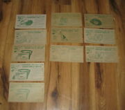 Vtg Western 1956 Advertising Rin Tin Tin Trading Post 11 Cards Nabisco Coupons