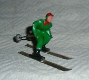 Vintage Lead Barclay Man On Skis In Green B190 Near Mint Free Shipping Lot A