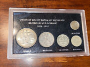 Rouble / Kopeks Soviet 1924 -1930 Ussr Russia Second Coinage Soc Coins Set 2