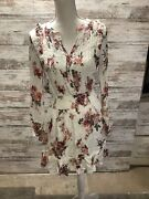 American Rag - Juniors White Floral-print Smocked-waist Dress - Size Small