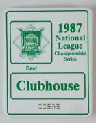 Vintage 1987 National League Championship Series East Clubhouse Badge Cardinals