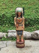 John Gallagher Carved Wooden Cigar Store Indian 4 Ft. Statue Thunderbird