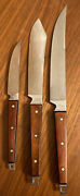 Lot Of 3 Ekco - Flint Matching Classic Hanging Steak Knives Stainless Steel Usa