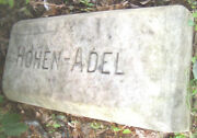 Rare-phila. Beer Item--hohen Adle Brewery Marble Hand Carved Stone--late 1800and039s