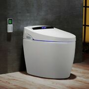 Modern Smart One-piece 1.27 Gpf Floor Mount Elongated Toilet And Bidet With Seat