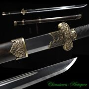 Grave Robbers Ghoul Sword Sabre Pattern Steel Blade W Clay Tempered Sharp 2856