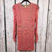 Ryse The Label Ruched Drape Lace Up Gold Grommet Dress Runway Sample Size Xs Nwt