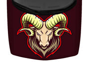 Fits Ram Head Red Yellow Illustrated Truck Hood Wrap Vinyl Car Graphic Decal Usa