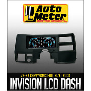 Auto Meter Invision Lcd Complete Dash Gauge Kit For 1973-1987 Chevy C10 C20 C30