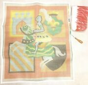Bernat Medieval Knight Horse Chess Coat Of Arms Latch Hook Rug Kit Yarn Canvas