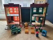 Vintage 1975 Fisher Price Play Family 938 Sesame Street House 16 Toys Included