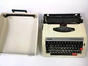 Olivetti Portable Manual Typewriter Ms 25 Premier Plus With Hard Carrying Case
