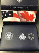 2019 Pride Of Two Nations Limited Edition Silver Proof 2 Coin Set Us And Canada