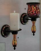 Partylite Global Fusion Sconce And Peglite Iridescent Mosaic Brand New Boxes Nib