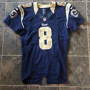 Nike Nfl St Louis Rams Sam Bradford Game Worn Team Issued Authentic Jersey Sz 42