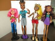 Monster High Pack Of Trouble 4 Pack Clawdia Clawd Clawdeen Howleen Wolf Dolls