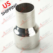 Us Ship 2 To 3 Od Stainless Steel Flared Exhaust Reducer Connector Pipe Tube