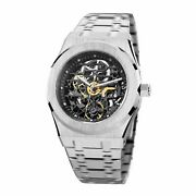Feice Sports Automatic Watch Menand039s Skeleton Mechanical Waterproof Sapphire