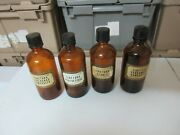 Rx Drugstore Old Glass Bottles Tinctura Lot Of 4 Vintage Collectible