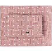 Lacoste Printed Cotton Percale Pair Of King Pillowcases Bedding 100 Cotton New
