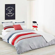 Lacoste Home Auckland Chili Pepper King Duvet Cover Bedding Collection Set New
