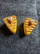 Burger King Meal 1989 Toys On Wheels Lot Of 2 Pie Slices Vintage 80and039s Toys 103