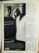Revere Sweaters / Michelob Beer Orig. Vtg 1967 Photo Ad